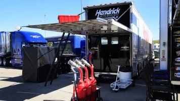 Pair of NASCAR teams scrambling amid hauler issues at Kansas