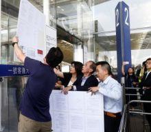 Hong Kong airport targeted in weekend protest after last week's mayhem
