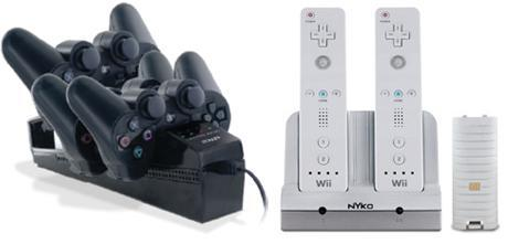Nyko's rechargeable PS3 SIXAXIS and Wiimote docking stations