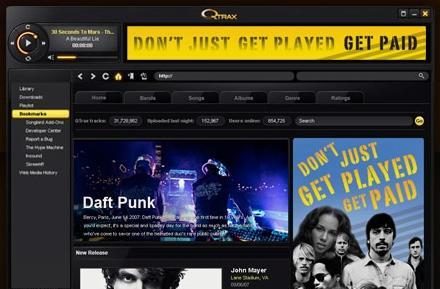 Qtrax promises unlimited, legal P2P downloads from all major labels. Probably too good to be true.