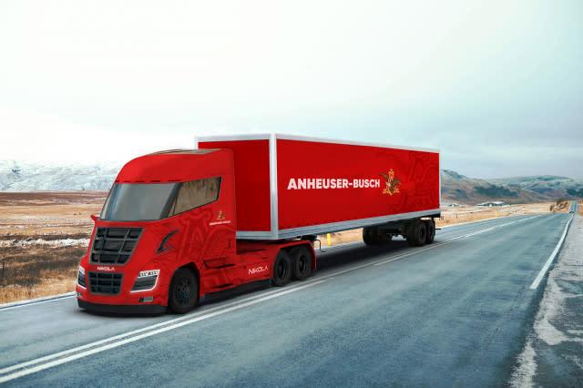 Budweiser brewer orders 800 Nikola hydrogen-powered semi trucks