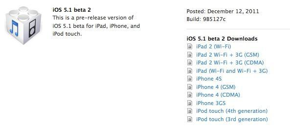 iOS 5.1 beta 2 out of the oven, ready for developer consumption