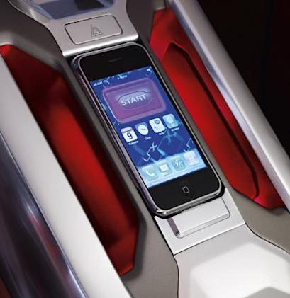 iPhone integral part of Land Rover LRX concept
