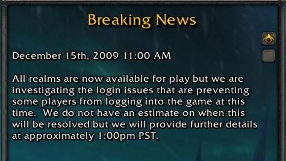 Blizzard investigating login issues [Updated]