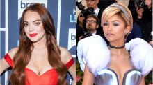 Lindsay Lohan Goes Full Mean Girl On Zendaya's Cinderella Met Gala Look