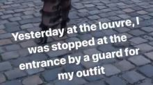 Model 'heartbroken' after being turned away from Louvre for her outfit