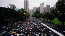Human chain in Hong Kong for Baltic Way anniversary