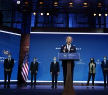 The Latest: Biden says split Congress affects Cabinet picks