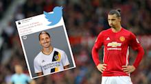 Manchester United striker Zlatan Ibrahimovic pictured in LA Galaxy kit amid claims striker has agreed MLS move