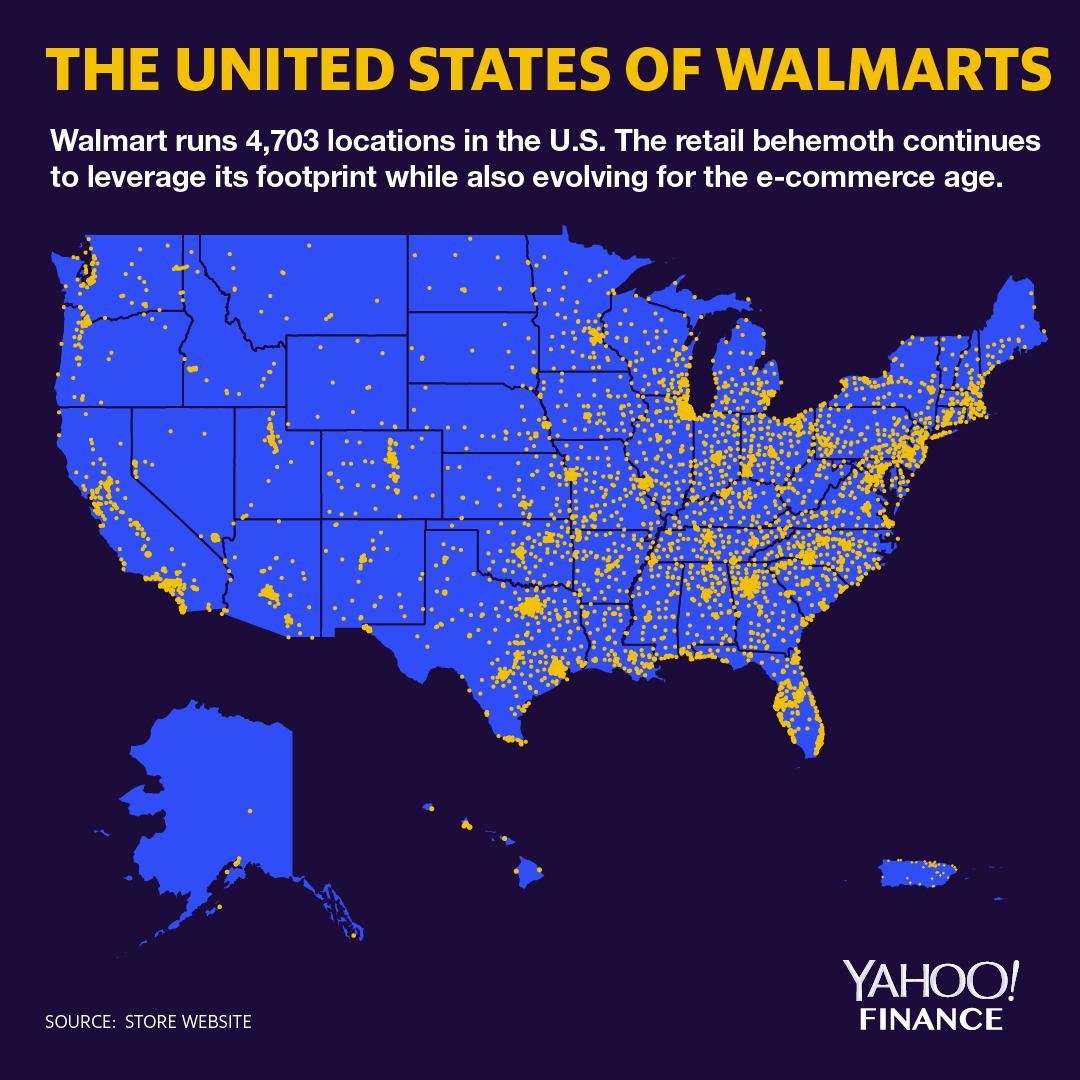Walmart No Credit Check Financing >> Walmart U S Locations Make For An Incredible Map