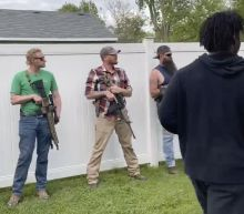 Floyd protesters in Indiana marched by armed residents
