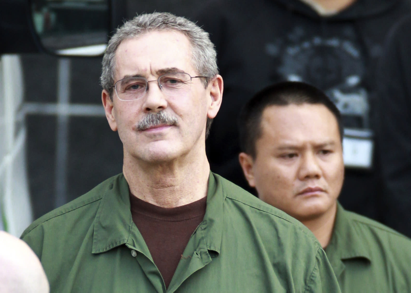 FILE - In this March 6, 2012 file photo, R. Allen Stanford leaves the Bob Casey Federal Courthouse in Houston. Stanford, once considered one of the wealthiest people in the U.S., with a financial empire that spanned the Americas, was convicted on charges he bilked investors out of more than $7 billion. The 62-year-old is set to be sentenced by a Houston federal judge on Thursday, June 14, 2012. (AP Photo/Houston Chronicle, Nick de la Torre, File)