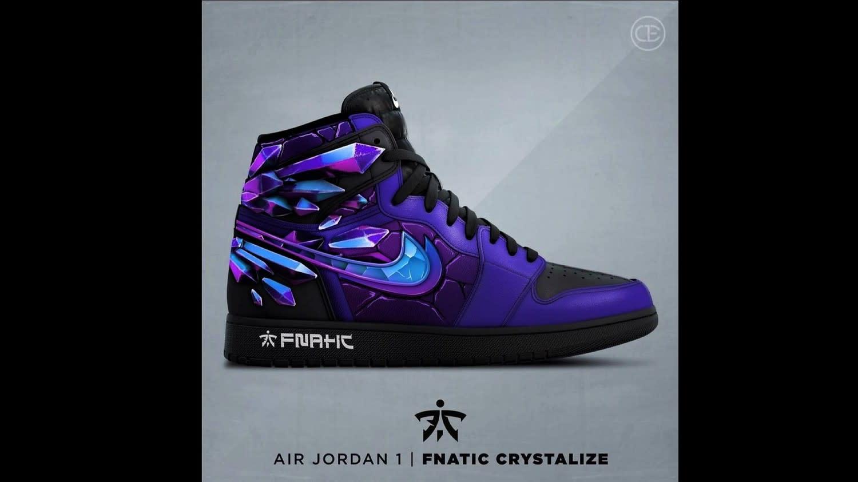 昨(13)日歐洲勁旅Fnatic(FNC)官方推特曬出了與Air Jordan推出的聯名球鞋圖:翻攝自 FNATIC 官方推特