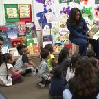 Michelle Obama, in SoCal for book tour, reads to LA kids
