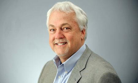 Rob Hiaasen, Capital Gazette Deputy Editor, one of the victims when an active shooter targeted the newsroom in Annapolis, Maryland, U.S. on June 28, 2018, is seen in this recent photo at an editorial board meeting. Courtesy Capital Gazette/Handout via REUTERS