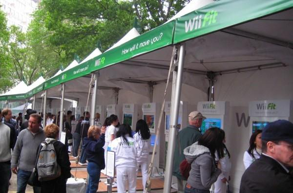 Nintendo celebrates Wii Fit NY launch in Central Park