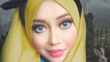 This makeup artist uses her hijab to transform herself into Disney princesses