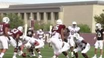 AYTV: Sideline View, A&M Spring Drills Practice 11