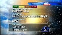 Track, temperatures, timing factors for potential storm