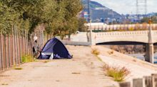 Homeless man left with burn injuries after his tent was set on fire while he was inside