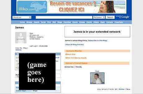 MySpace launching games channel in 2008