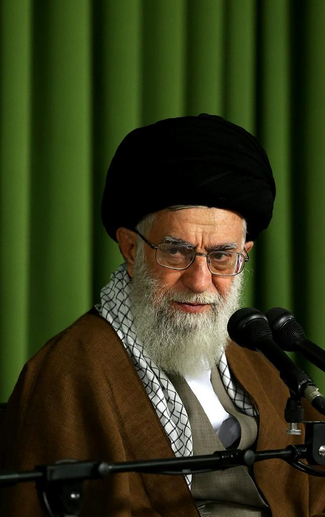 Iran's supreme leader Ayatollah Ali Khamenei speaks to lawmakers in Tehran, on May 27, 2015