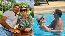 Ana Maria Braga curte fim de semana com o namorado: 'Muito amor'