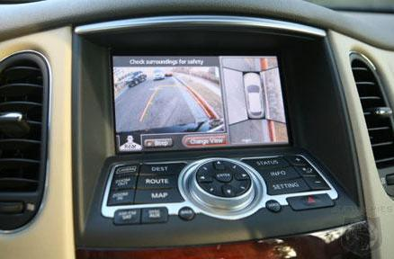 Infiniti's EX35 Around View Monitor system makes windows redundant