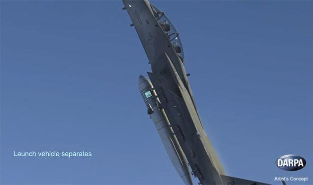 Watch how DARPA plans to launch small rockets from flying jets