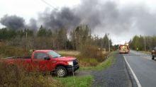 Scrapyard owner blames tire fire on recycling program