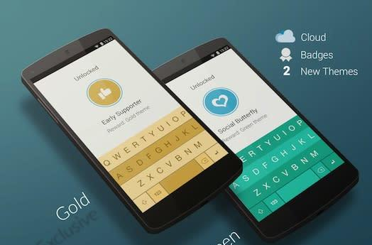 Fleksy keyboard for Android now has achievement badges and cloud syncing