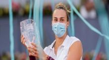 Madrid Open: Aryna Sabalenka sees off attempted comeback from Ashleigh Barty to claim title