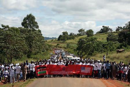 Residents of Kilgoris in Trans Mara District in Kenya, match during a campaign against female genital mutilation