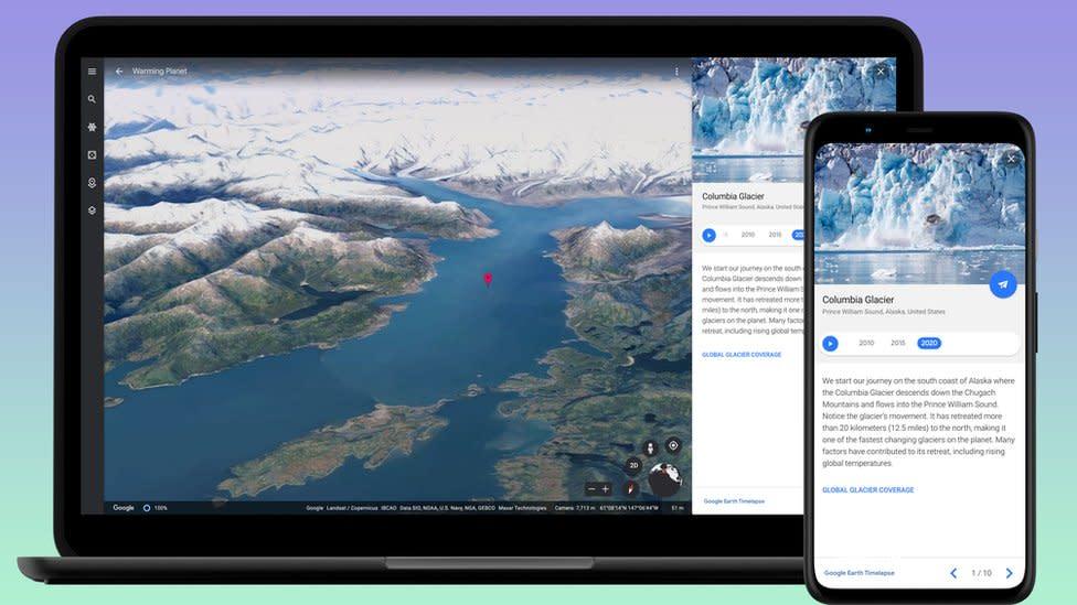 Google Earth time-lapse feature winds clock back 37 years – Yahoo News Australia