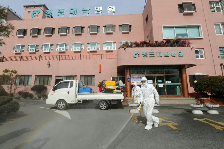 Among the new cases in South korea, 92 were 'related' to patients or staff at a hospital