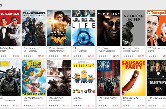 Google Play matches Apple's $20 price for select 4K titles