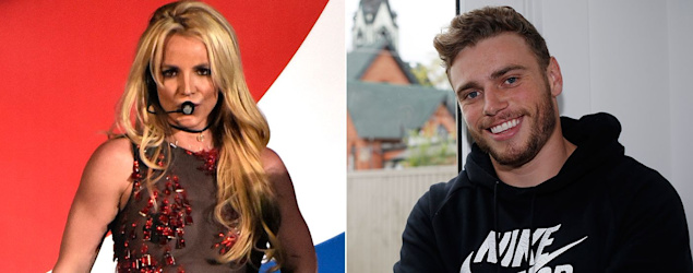 Olympic love story: Britney Spears and Gus Kenworthy. (AP)