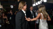 Jennifer Aniston e Brad Pitt se encontram em premiação e fãs shippam o casal