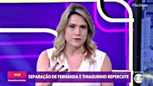 Fernanda Gentil elogia Sônia Abrão ao vivo na Globo