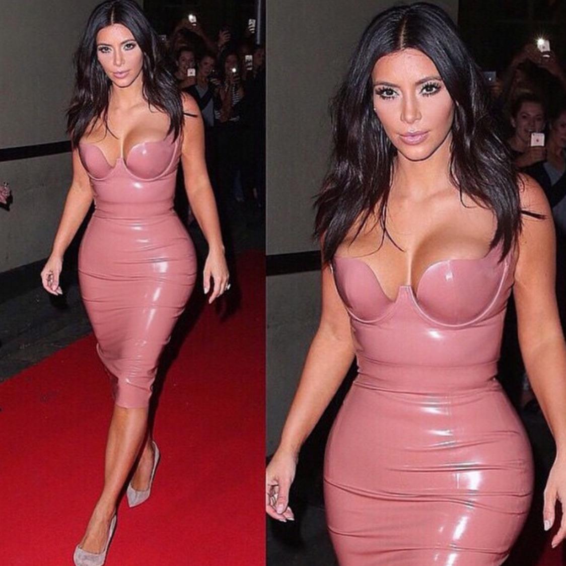 Kim Kardashian y otras famosas que adoran la ropa ajustada: ¿sexy o ...