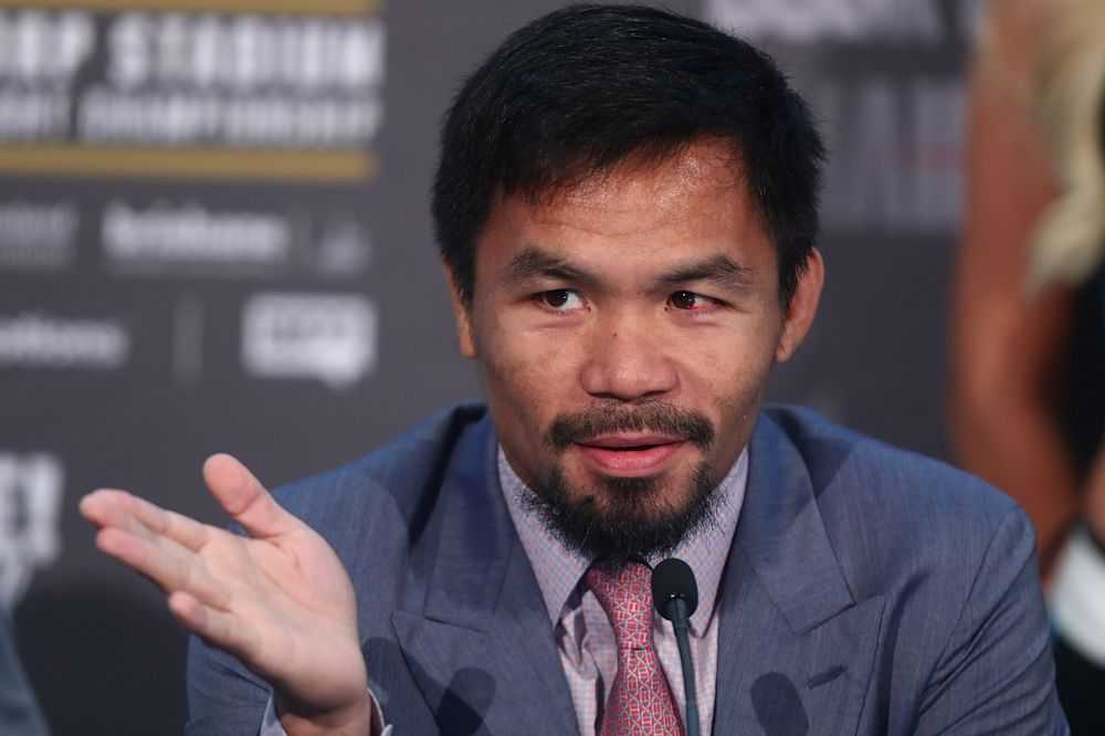 Manny Pacquiao during the official Pacquiao Vs Horn press conference for WBO World Welterweight Championship at Suncorp Stadium on June 28, 2017 in Brisbane, Australia.