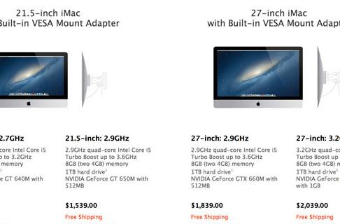 New iMacs with built-in VESA mount adapters revealed, cost $40 extra