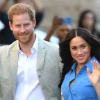 Meghan Markle recycles blue Veronica Beard for South Africa museum visit