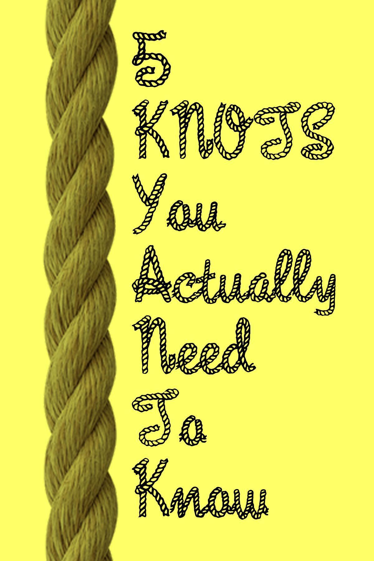 sc 1 st  Yahoo & 5 Basic Knots Everyone Should Know How to Tie