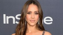 Jessica Alba Takes on Another TikTok Dance Craze in Sports Bra & Leggings Set With Neon Sneakers