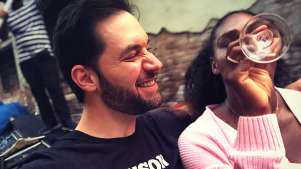 Alexis Ohanian Sr. took his love for Serena Williams to new heights.