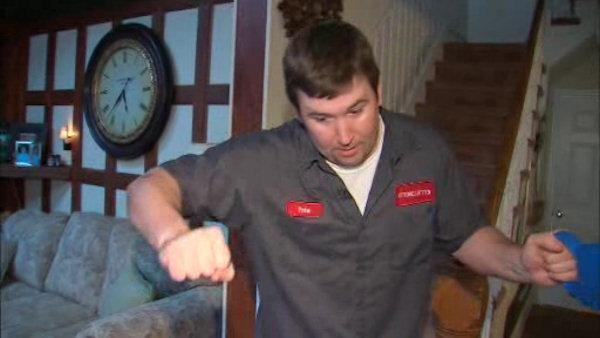 Homeowner catches burglar inside home