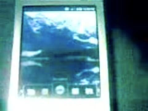 Android on a Nokia N95 captured on video