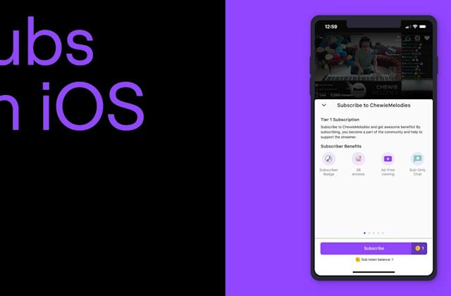 Twitch viewers can subscribe to streamers on iOS