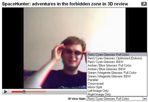 YouTube enters the cavernous, chromatic world of 3D